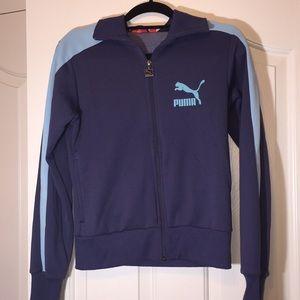 Blue Puma track jacket. Medium.